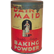 Dairy Maid Baking Powder 1 Lb 9 Oz Tin