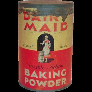 Dairy Maid Baking Powder 1 Lb 9 Oz Tin