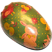 Vintage 1950's Metal Easter Egg Candy Holder