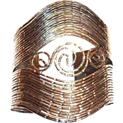 Ladies Lovely Silver Tone Colored Metal Cuff Bracelet