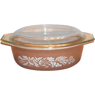 Pyrex 1970's Promotional Spices Cinderella Shaped Covered Casserole