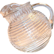 Anchor Hocking Manhattan Pattern Depression Clear Glass Pitcher