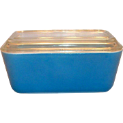 Pyrex Medium Size Blue Refrigerator Dish With Lid