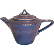 Homer Laughlin Harlequin Blue Teapot