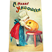 International Art Publishers: A Merry Hallowe'en Postcard Signed Ellen Clapsaddle