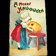 International Art Publishers: A Merry Hallowe'en Postcard Signed Ellen Clapsaddle