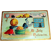 A Jolly Hallowe'en Vintage Postcard by B Holfmann - 1909
