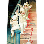 Int'l Art Publishing Co.: A Merry Christmas Postcard Signed Clapsaddle