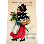 Wolf & Co.: Wishing You Christmas Cheer Postcard Signed Clapsaddle - 1918