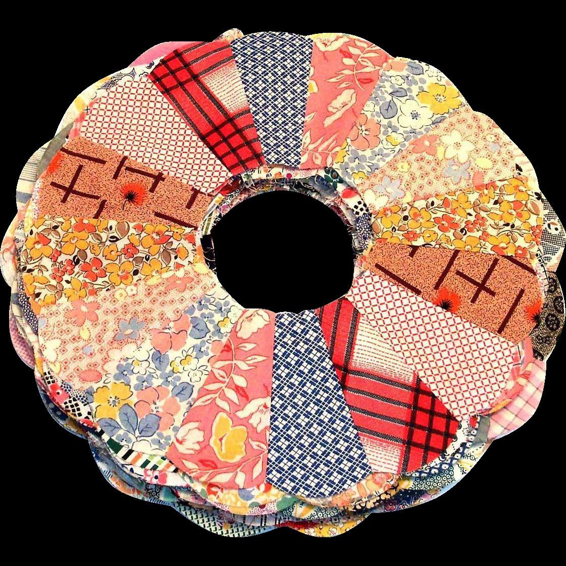 24 Vintage Dresden Design Quilt Pieces