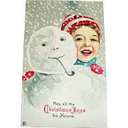 Stecher: May All The Christmas Joys Be Yours Postcard