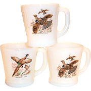 Fire King Game Birds Design Mug