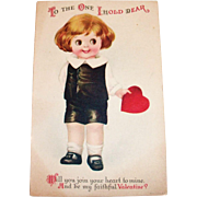 Wolf: To The One I Hold Dear Valentine's Postcard