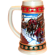 Budweiser 1993 Hometown Holiday Stein