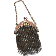 Vintage Lovely Small Mesh Purse