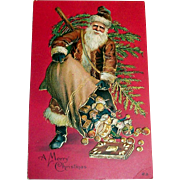 Nash: A Merry Christmas Postcard (Santa Claus Emptying Bag Of Toys)
