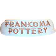 Frankoma Pottery Display Name Plate