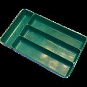 Lustro Ware Green Plastic Silverware Tray