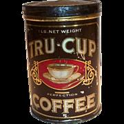 Tru-Cup Coffee Tin