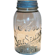1915 Kerr Self Sealing 1 Qt Mason Jar