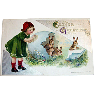 "Winsch: 1911 ""Easter Greetings Postcard"