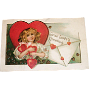 Int'L Art Publishing: True Love's Greeting Valentine Postcard