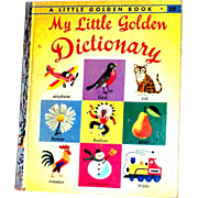 Vintage Little Golden Book: My Litle Golden Dictionary, 1949, E Edition