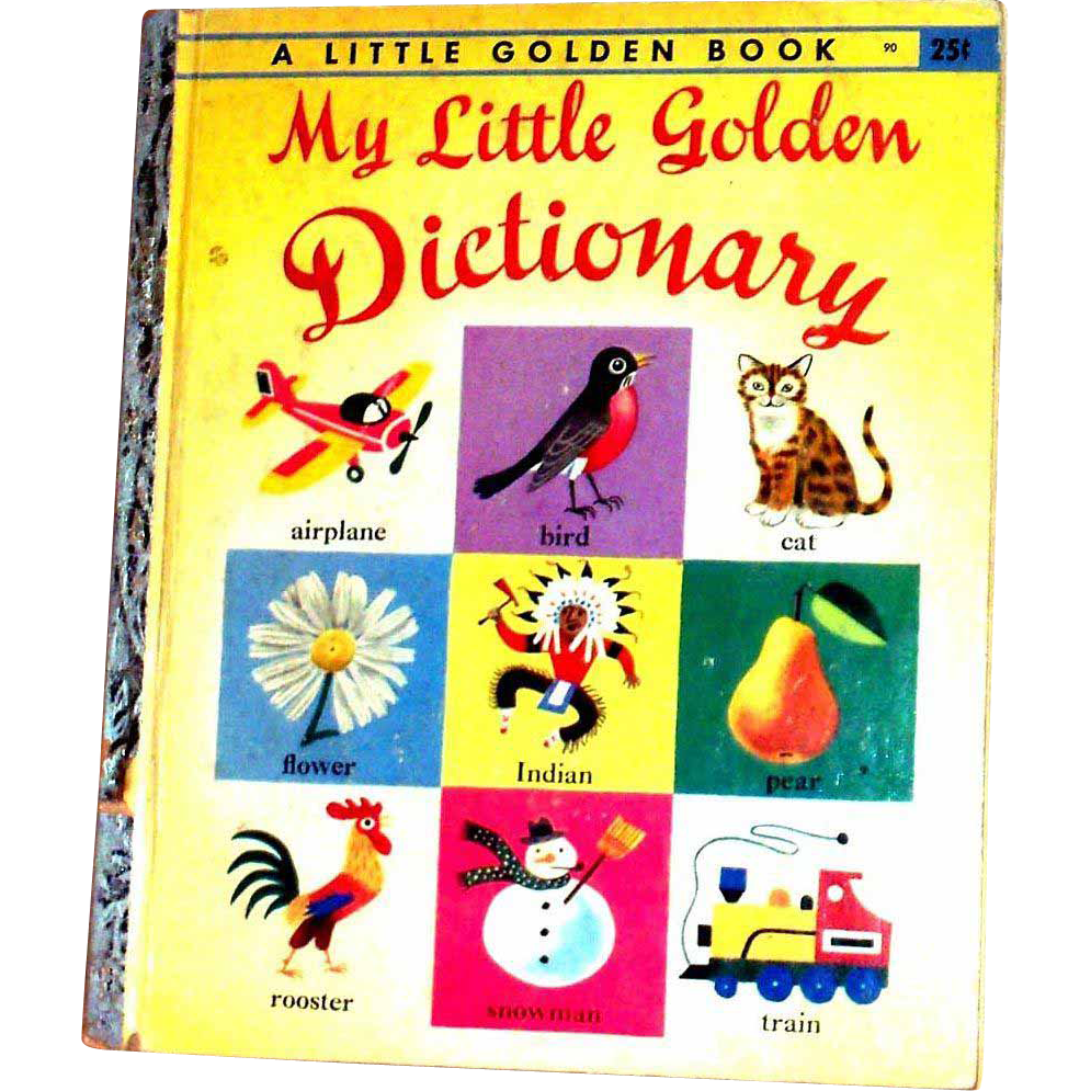 Vintage Little Golden Book: My Little Golden Dictionary, 1949, E Edition