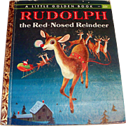 Little Golden: Rudolph The Red Nose Reindeer Children's Book - 1958