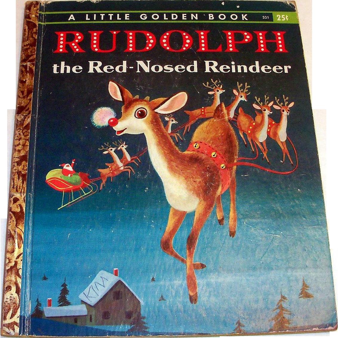 Little Golden: Rudolph The Red Nose Reindeer Children's Book - 1958