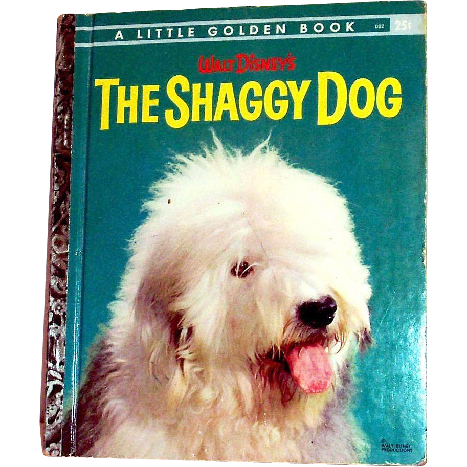 Vintage Little Golden Book: Disney's: The Shaggy Dog, 1959, B Edition
