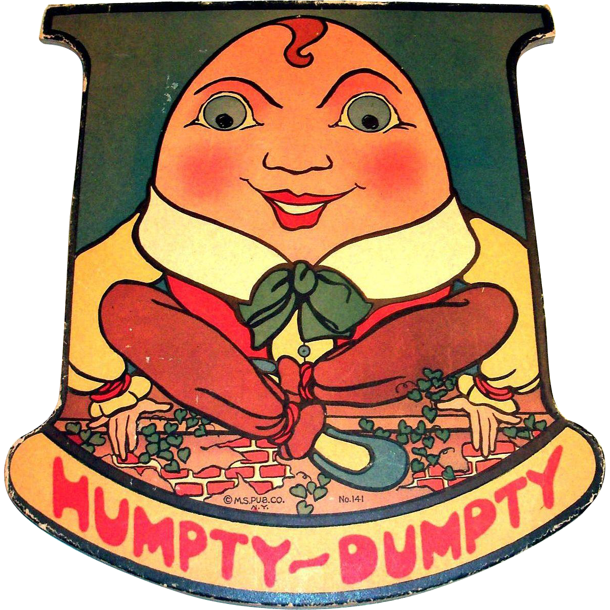 Vintage The Humpty Dumpty Mother Goose Rocker Book - Copyright 1920's