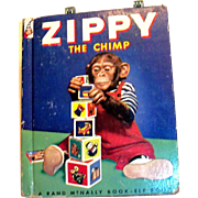 Vintage Rand McNally: Children's: Zippy The Chimp Book - 1953