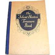 "Vintage Paperback The ""Silent Hostess"" Treasure Book Cookbook - 1930"