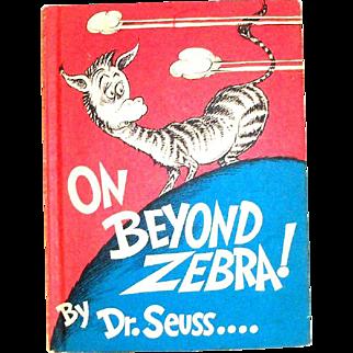 Dr. Seuss: On Beyond Zebra! Children's Book - 1955