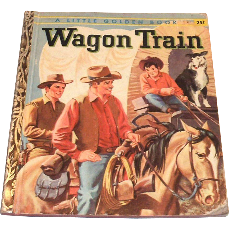 Little golden books wagon train 1958 from theantiquechasers on ruby