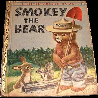 Vintage Little Golden: Smokey The Bear, 1955, C Edition