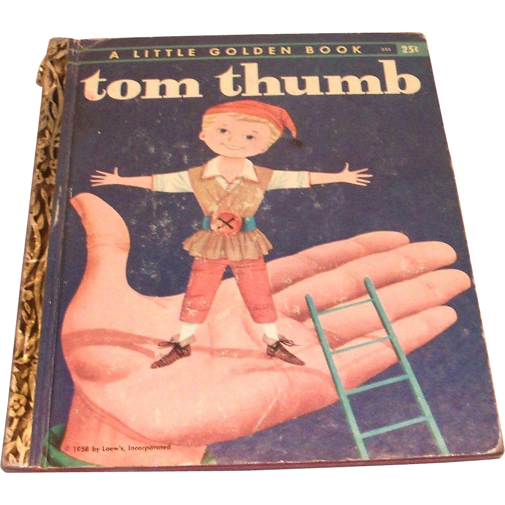 Vintage Little Golden Book: Tom Thumb - 1958, A Edition