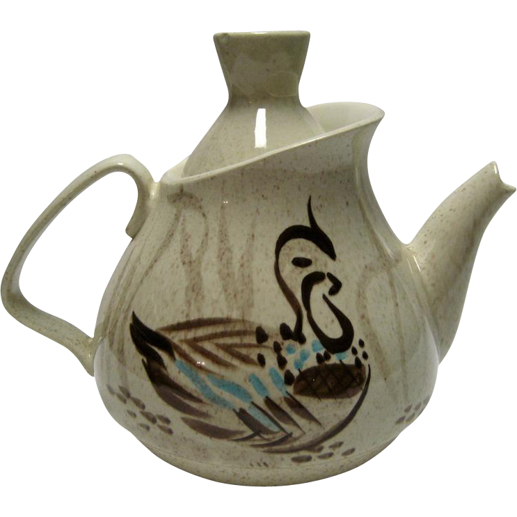 Red Wing Bob White Teapot From Thedaisychain On Ruby Lane