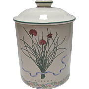 Certified Int'l Corp. Woodbine Meadows Flour Canister - Japan