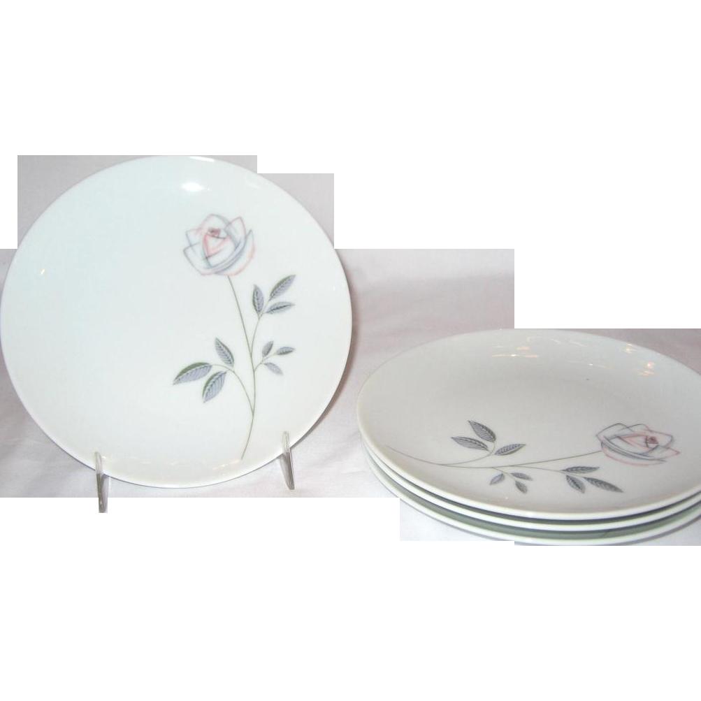Noritake Cook'n Serve Roselin Bread & Butter Plates - Set of 4
