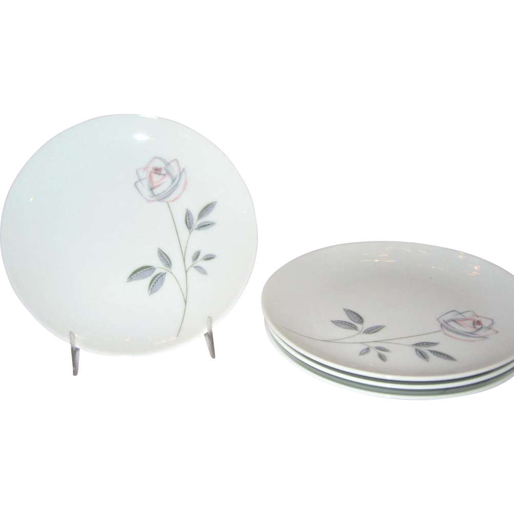 Noritake Cook'n Serve Roselin Bread & Butter Plates - Set of 4