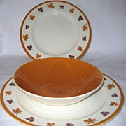 Homer Laughlin Maplewood - Chop Plate, Serving Bowl, Dinner Plate