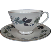 Royal Doulton Burgundy Cup and Saucer - 4 Available