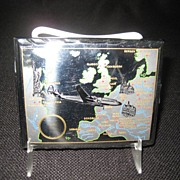 DBGM Chrome Cigarette Case - Map Decoration