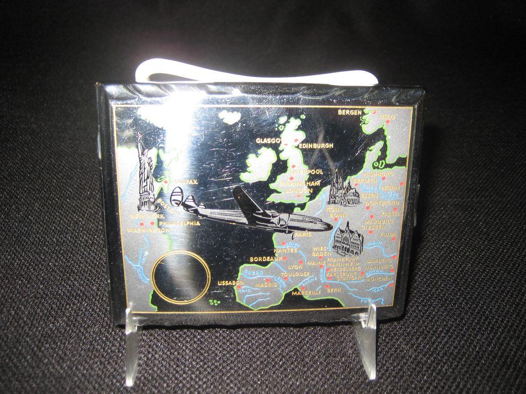 DBGM Chrome Cigarette Case - Map Decoration