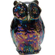 Fenton Large Purple Carnival Owl - 1971