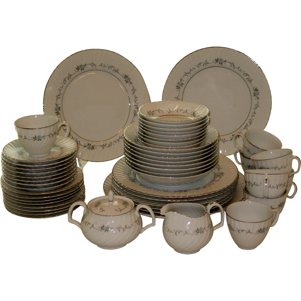 51 Pc. Set Mikasa China Dinnerware - Justina