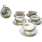 6 Occupied Japan Demitasse Cup and Saucer Sets