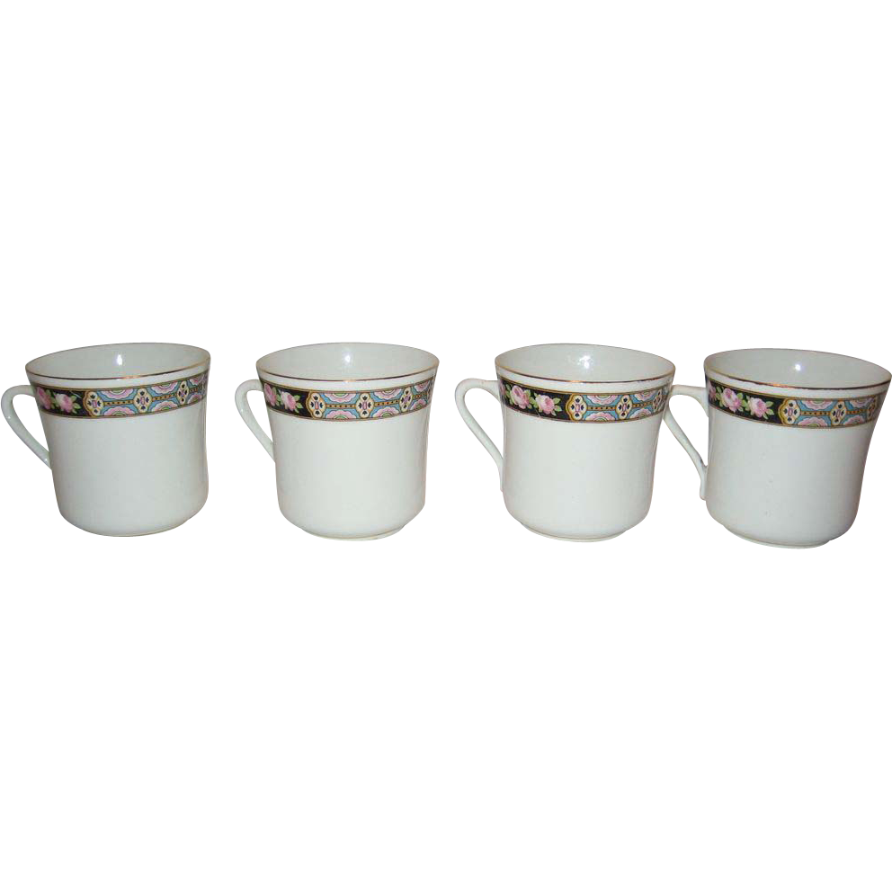 Set of 4 C.W.S. Windsor Tea/Coffee Cups